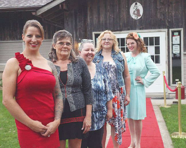 These five women battled to be the area's second Win This Space winner. The victor was awarded nearly $20,000 worth of prizes. From the left is Jackie DeWit, Debbie Nassar, Kymm Moore, Gerrie Huenemoerder and Marcie Riegling. (Shaun Gregory/Huron Expositor)