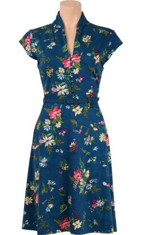 KING LOUIE jurk Emmy Dress 89,95 https://www.lesjalerie.nl/collections/dameskleding/products/king-louie-jurk-emmy-dress-secret-garden-maat-l