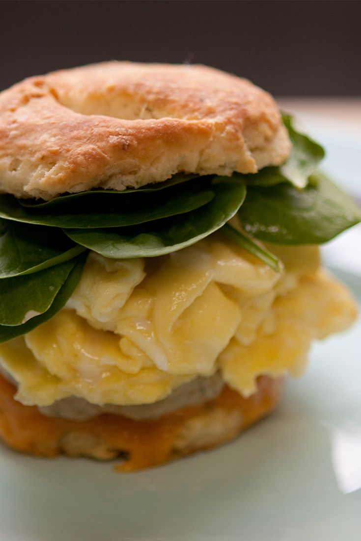 #Epicure Sausage and Egg Biscuit Breakfast Sandwich