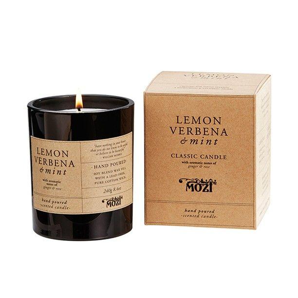 Lemon Verbena & Mint classic candle – a floral yet fresh & citrusy fragrance