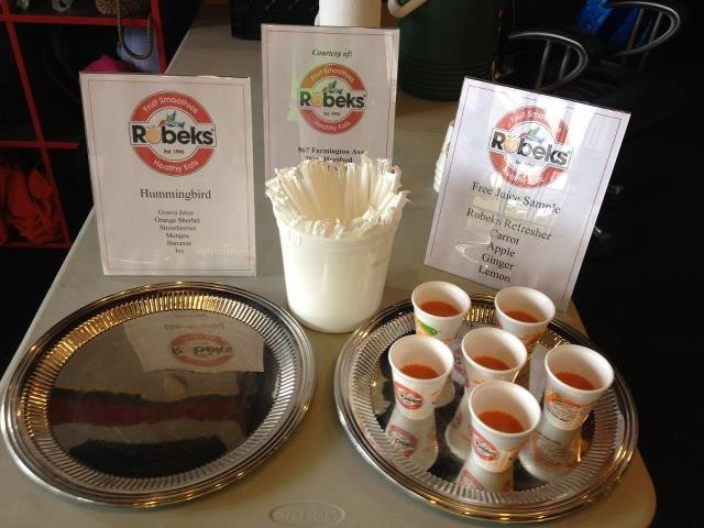 Robeks of West Hartford stopped by with St. Patrick's Day smoothies and juice!!