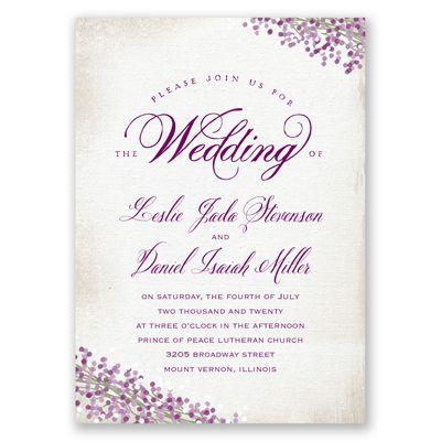 Pretty Petals   Wedding Invitation   Floral, Woodsy, Natural, Seasonal At  Invitations By Davidu0027s Bridal