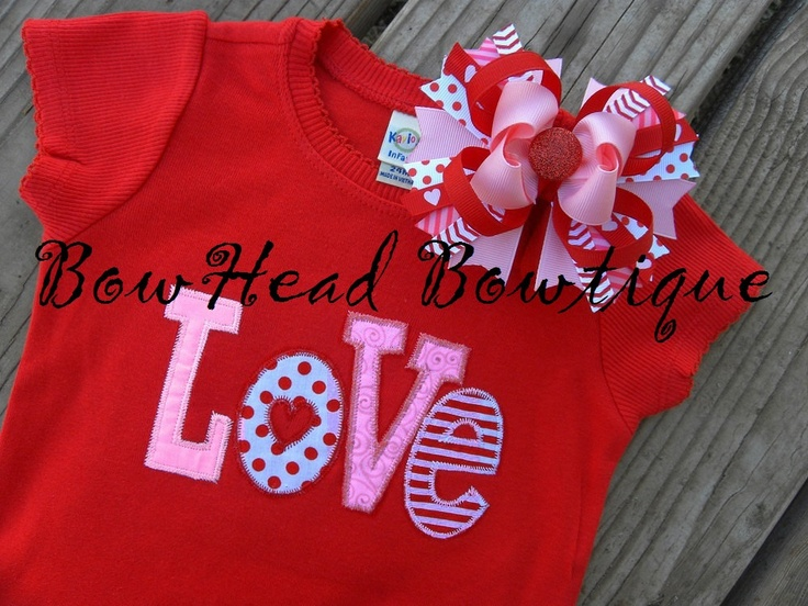 Love Valentine S Day Applique Boutique Girls Shirt Or