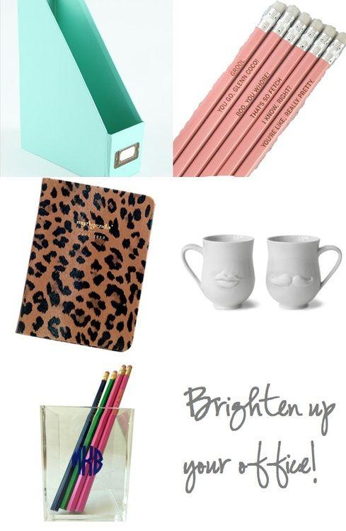 Fun, Bright Office Supplies! Tiffany Blue, Mean Girls Pencils, Leopard  Agenda,
