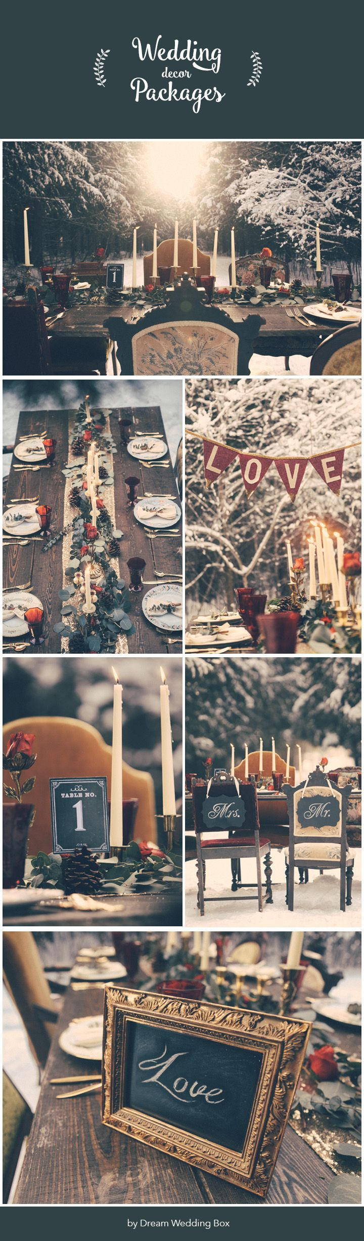 Complete Winter Wedding Decor Package