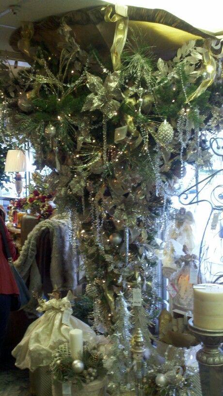 Hanging Christmas Trees Upside Down