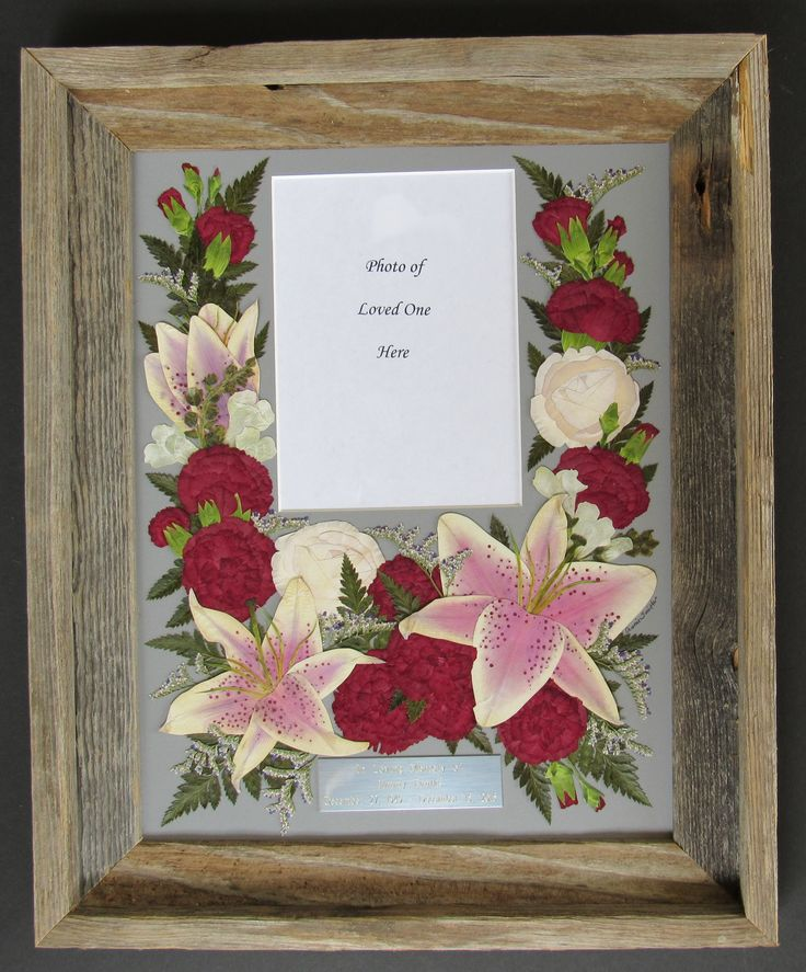 Dried Flower Bouquet Frame