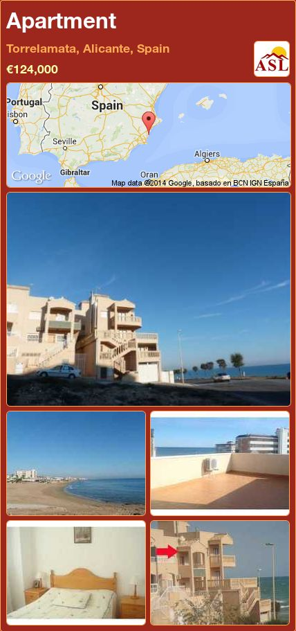 Apartment in Torrelamata, Alicante, Spain ►€124,000 #PropertyForSaleInSpain