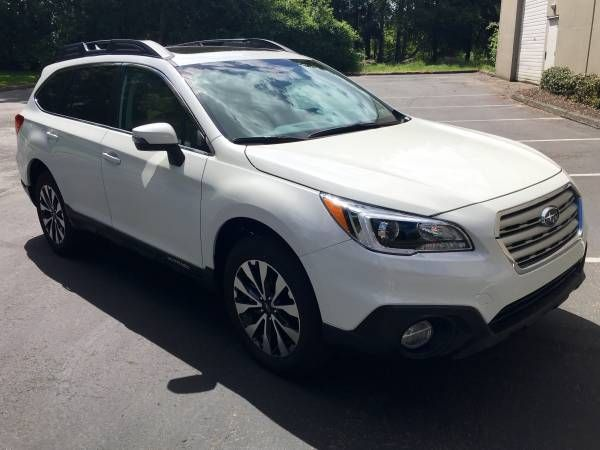 2016 Subaru Outback 3.6R Limited, White/Tan, with only 5,300 Miles $26100: < image 1 of 21 > 2016 Subaru Outback 3.6R fuel: gastitle…