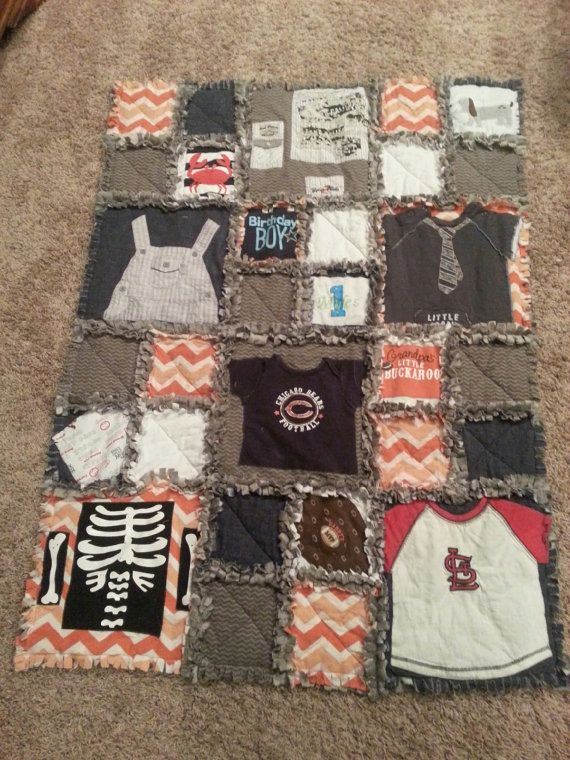 Keepsake Baby Clothes Blanket KEEPSAKE by LittleSakofBeans on Etsy, $100.00