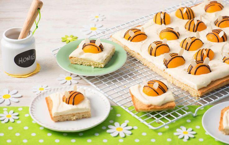 Highlight auf jedem Kindergeburtstag: Auf diesem Kuchen sind die Bienen los.