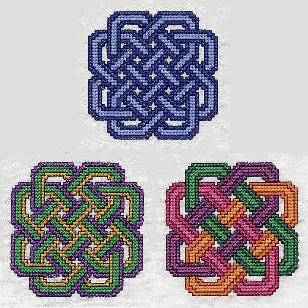 Celtic Knot 2 machine cross stitch pattern on Craftsy.com, in PES, JEF, HUS and & SEW formats.