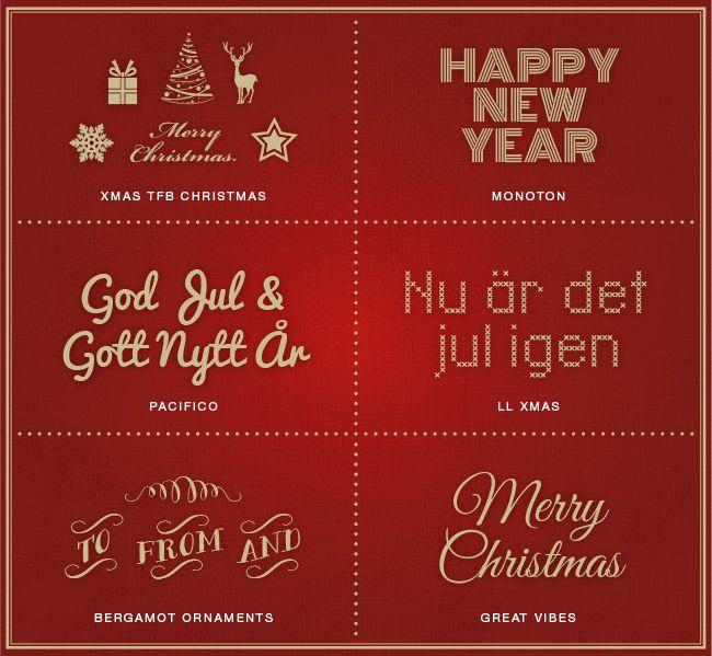 Fina fonter till julkorten – gratis för eget bruk.