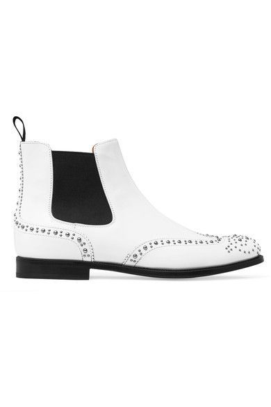 Church's - Ketsby Studded Leather Chelsea Boots - White - IT38.5