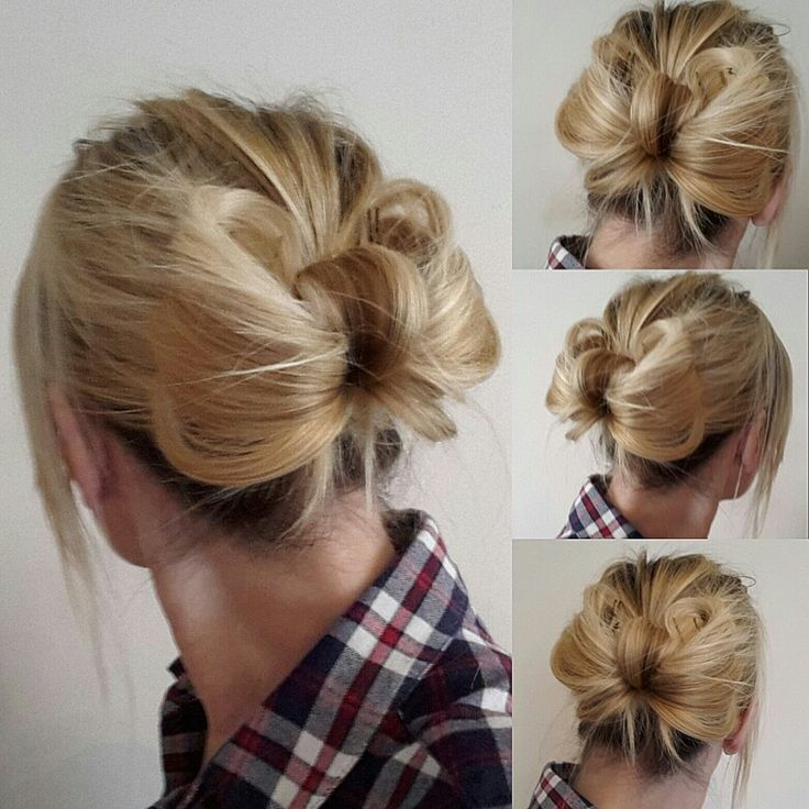 Messy bow hairstyle