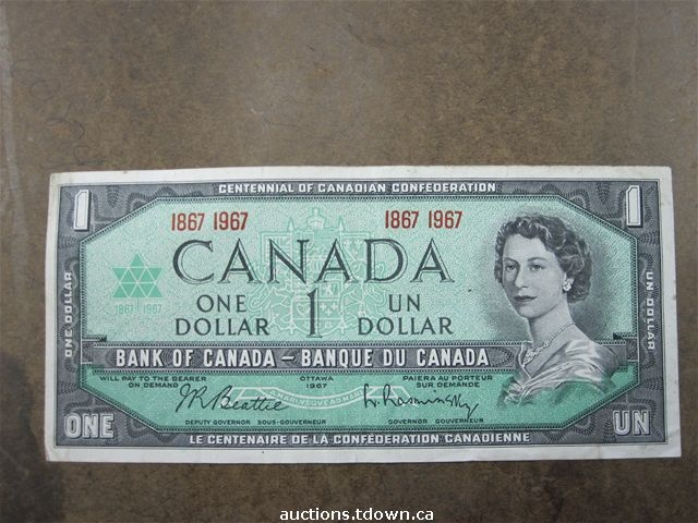 The Canadian Dollar Bill....when it was still paper....Now we have a stupid loonie (coin).