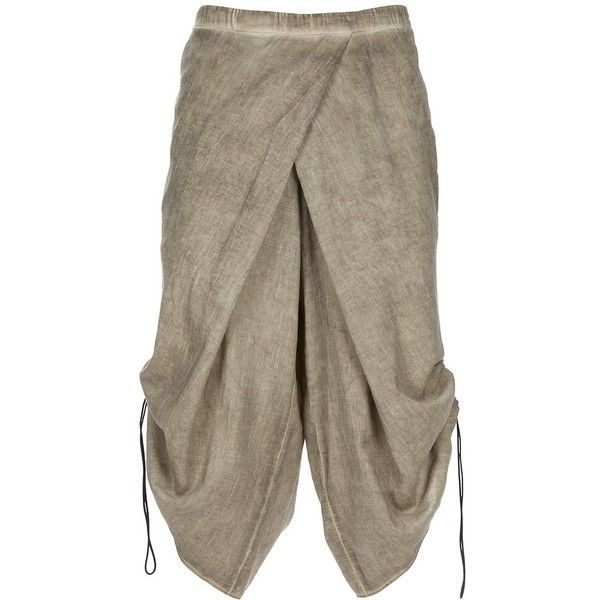 Wrap Over Shorts ($248) ❤ liked on Polyvore featuring shorts, pants, bottoms, skirts, men, long shorts, cotton drawstring shorts, drawstring shorts, cotton shorts and gray shorts