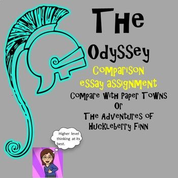 Compare The Odyssey with another novel that features a hero on an incredible journey. I've included printable documents to compare with Paper Towns or The Adventures of Huckleberry Finn, but all items are editable in PPT and Word forms if you would like to use another