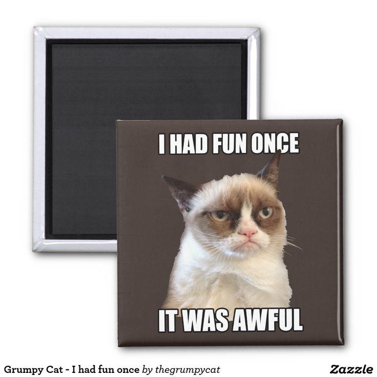 grumpy cat wedding invitations%0A Grumpy Cat    I Had Fun Once It Was Awful     Inch Square Magnet