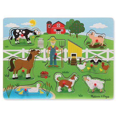 A peg puzzle that sings... #pegpuzzle #toddlerpuzzle #toddler