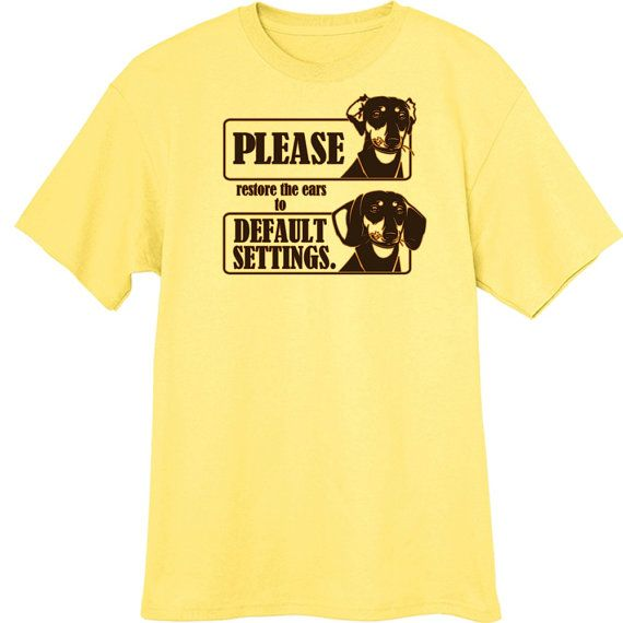 Dachshund Ears Funny Novelty T Shirt Z13604 by RogueAttire on Etsy, $18.99