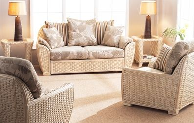 Cane Industries Como White Wash Full Room Conservatory Furniture