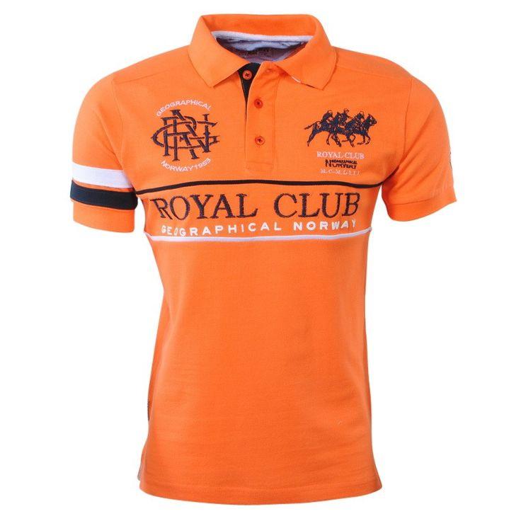 Geographical Norway - Trendy Polo Shirt - Karaoke - Orange - Moda Italia