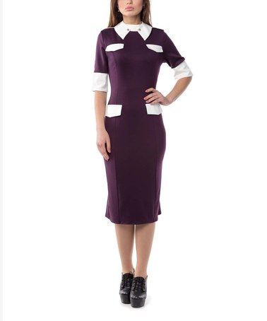 This Bilberry Collar Sheath Dress - Plus Too is perfect! #zulilyfinds