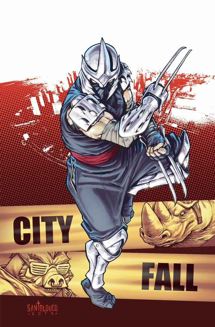 Shredder  TMNT#28: City Fall_cover by Santolouco.deviantart.com on @deviantART