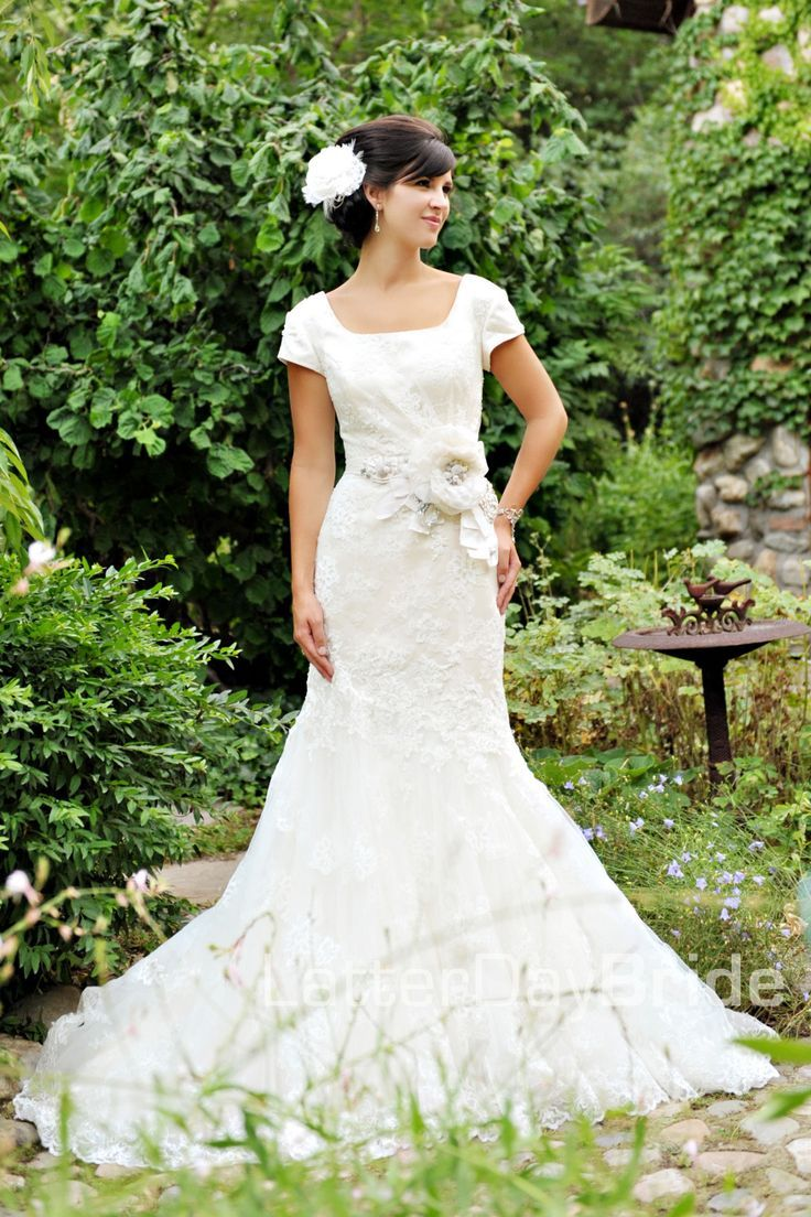 Esperanza latterdaybride modest lace wedding dress jill for Modest lace wedding dresses