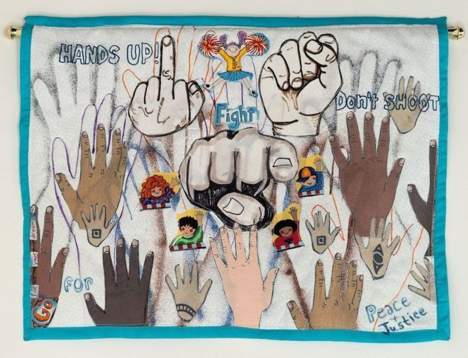 The Fist and the Finger, a quilt by Nedra Bonds