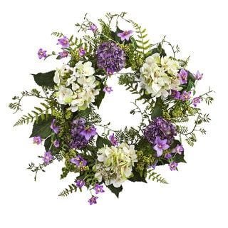 Shop for 24-inch Hydrangea Berry Wreath. Get free shipping at Overstock.com - Your Online Home Decor Outlet Store! Get 5% in rewards with Club O! - 17673408