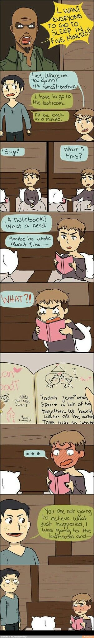Attack on Titan ~~ Marco leaves his diary where Jean can find it. Are you so sure that was an accident? Hmmm...