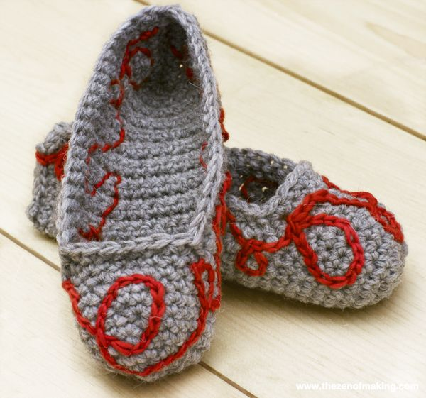 Knitting Shoes Tutorial : Tutorial crochet embroidery the zen of making para