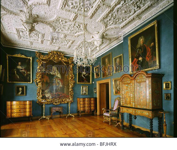 Interior of King Frederick IV room in Frederiksborg Castle