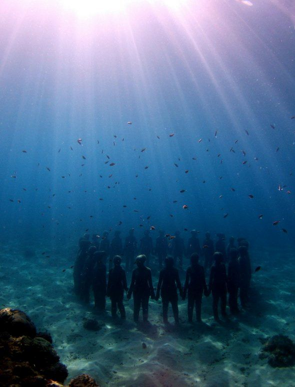 The Underwater Sculpture Park. I need to go snorkeling here...: Decair Taylors, The Ocean, Scubas Diving, Jason Decair, Marine Life, Circle, Underwater World, Underwater Sculpture, Travel Destinations