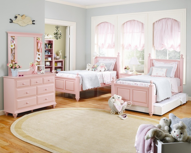 Madison bedroom set in blush pink by lang furniture for - Bedroom sets for small rooms ...