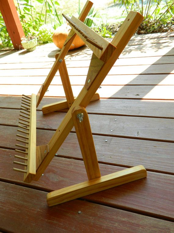 18x18 Adjustable Twining Loom by LaughingFrogGardens on Etsy