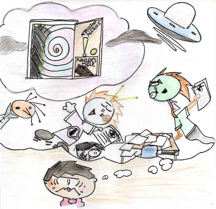 illustrations for Xavier's Desk Monster, done by a student!: Student, Illustration
