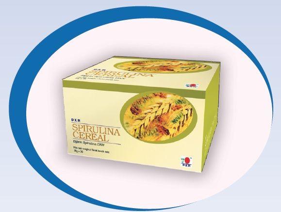 DXN Spirulina Cereal este bogat în fibre de cereale şi spirulină. Spirulina este considerată un aliment cu o compoziţie superbă, pentru că conţine toate alimentele de care organismul are nevoie şi de aceea este mai eficientă decât celelalte suplimente alimentare cu vitamine.  Ultimile cercetări au arătat efectele benefice a spirulinei asupra sănătăţii: http://afacere.dxnromania.ro/blog-2015-01-19-Spirulina_Cereal_-_Cereale_cu_con__inut_de_ganoderm
