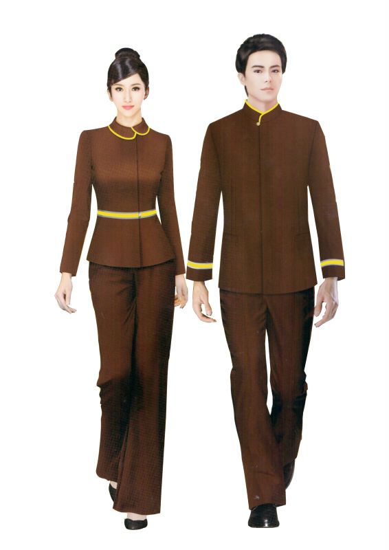 2013 hotsell fashion hotel housekeeping uniform