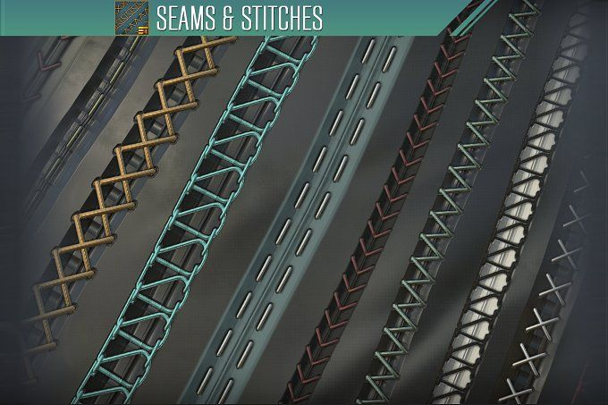 Seams and Stitches by Substance Tools