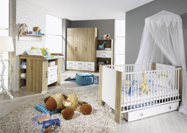 Fabulous Babyzimmer Set Samira tlg komplett Eiche Sonoma