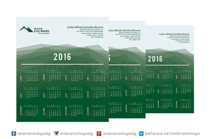 Diseño e impresión del Calendario 2016 para Carlos Semidey, Asesor de Seguros.