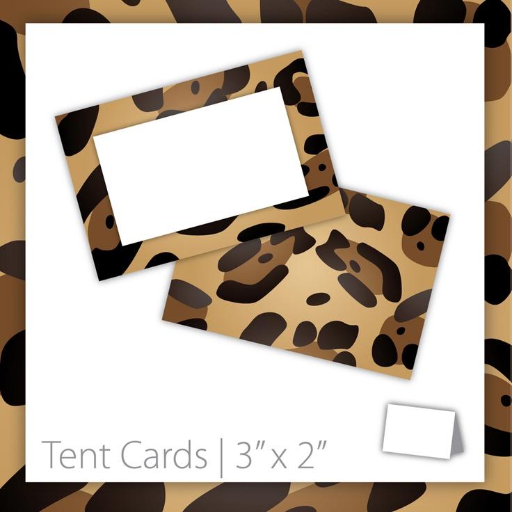 Animal Print Tent Cards : Blank . PRINTABLE . Cheetah ~ $5.00 ~ Cheetah tent card, printable tent card, printable Cheetah tent card, Cheetah print cards, animal print tent card, name tent cards, jungle tent card, jungle theme, jungle birthday, wild animal tent card, wild animal party #jungleparty #junglebirthday #jungletheme ~ https://www.etsy.com/listing/123039040