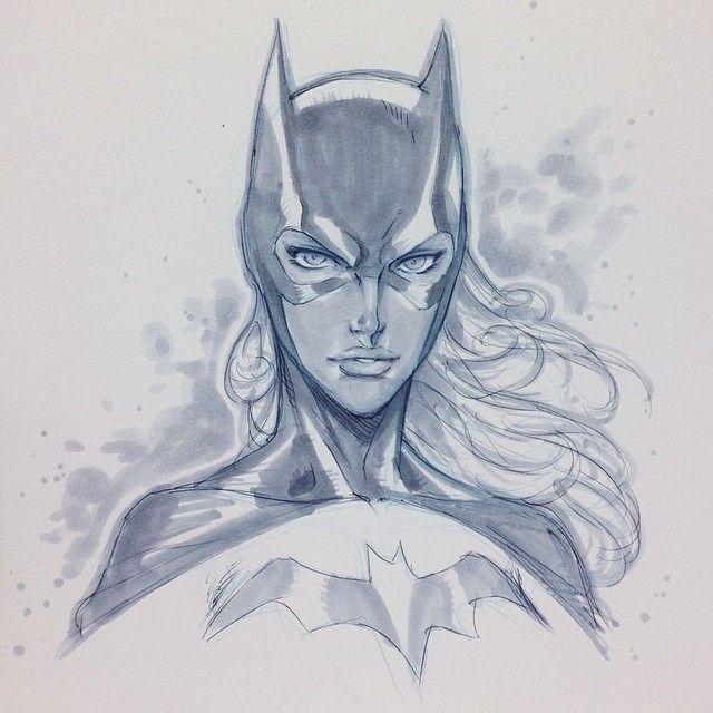 Batgirl sketch by Alvin Lee