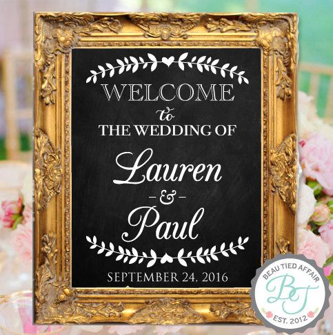 Wedding Chalkboard-