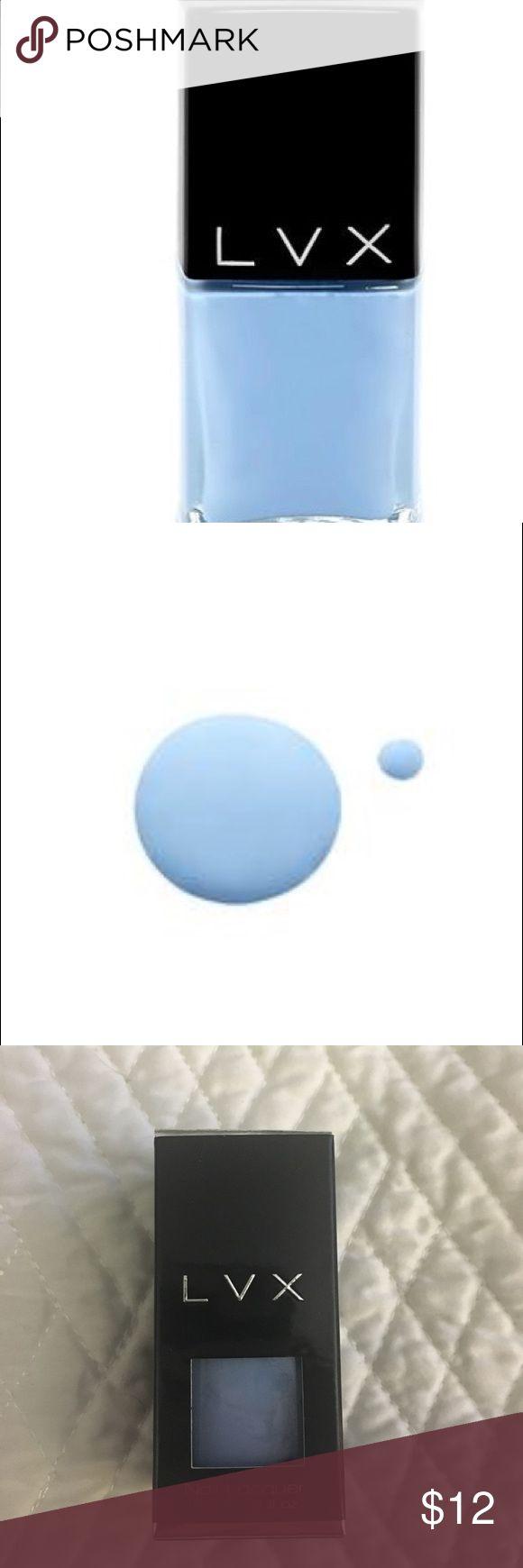 LVX nail polish Seren Color Description: Whimsical Sky Blue   Original Release: Summer 2016  Inspiration: Emilio Pucci - Anna Sui - Atelier Versace - Antonio Berardi LVX Makeup