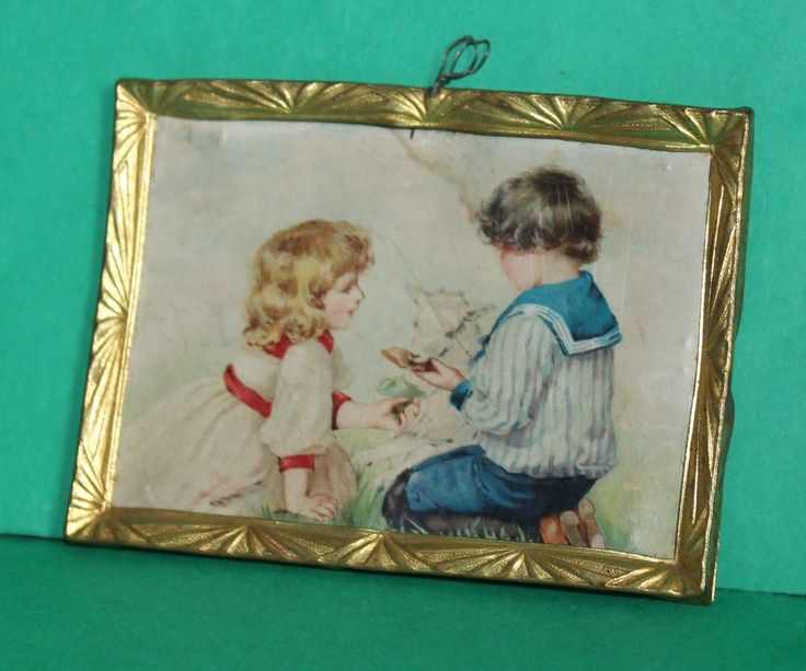 Vintage Dolls House Antique Ormolu Erhard & Sohne Picture #3398 | eBay