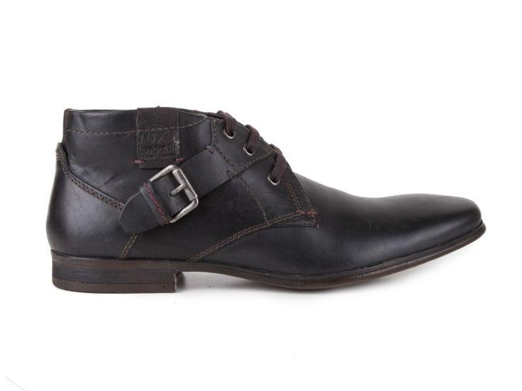 Bugatti - Kožené pánské boty ke kotníku, zateplené U1335-4W / černá | obujsi.cz - dámská, pánská, dětská obuv a boty online, kabelky, módní doplňky